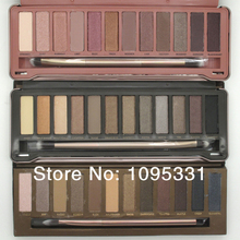 Drop Shipping ! 3pcs Nake 1 and 2 and 3 palette 12 Color Eyeshadow , NK 12 Colors Eye shadow with brush 12x1.3g ( 3 pcs /lot)(China (Mainland))