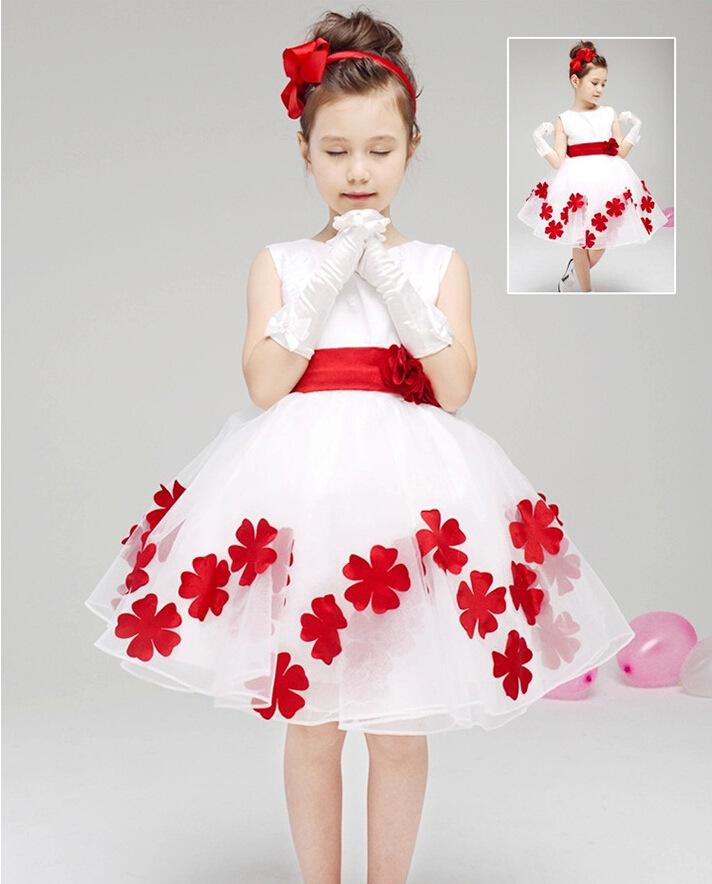 2015 Chirstmas Kids Girl Dress elegant Baby Girl Princess Clothing 3-8ys Girl Formal Party Dress(China (Mainland))