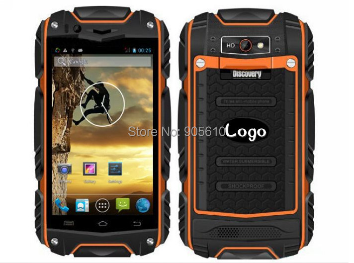 Waterproof Discovery V8 Android 4.4 3G GPS MTK6572 512+4G dual Core Waterproof Dustproof Shockproof WCDMA Polish Cestina Greek(Hong Kong)