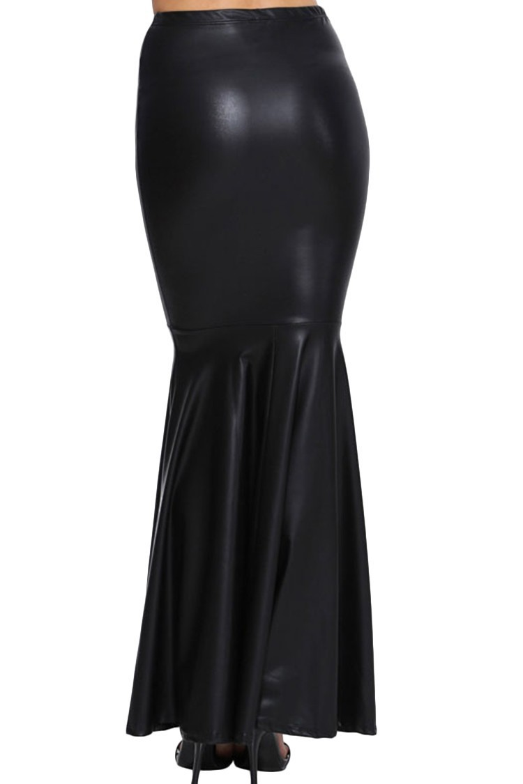 Long faux leather skirt – Modern skirts blog for you