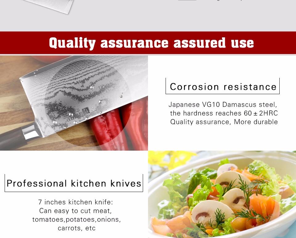 "Buy XINZUO 7"" inch kitchen knife 67 layer Japanese VG10 Damascus Chinese chopper knife sharp melon knife ebony handle free shipping cheap"