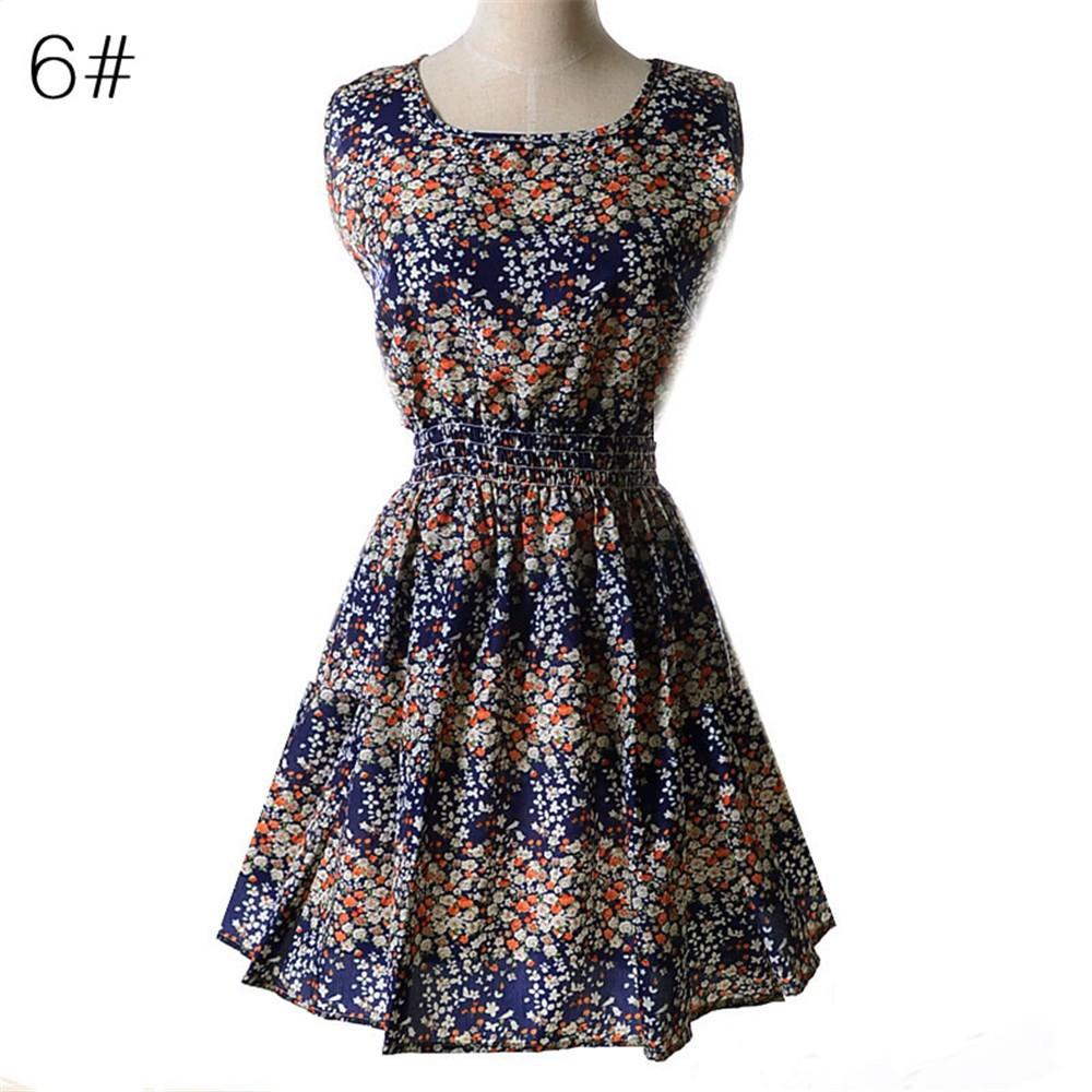 Fashion Tunic Women Dress 2016 Plus Size XXL O-neck WOMEN DRESS Summer Style Floral Print Casual Dresses Women Vestidos Woman (32)