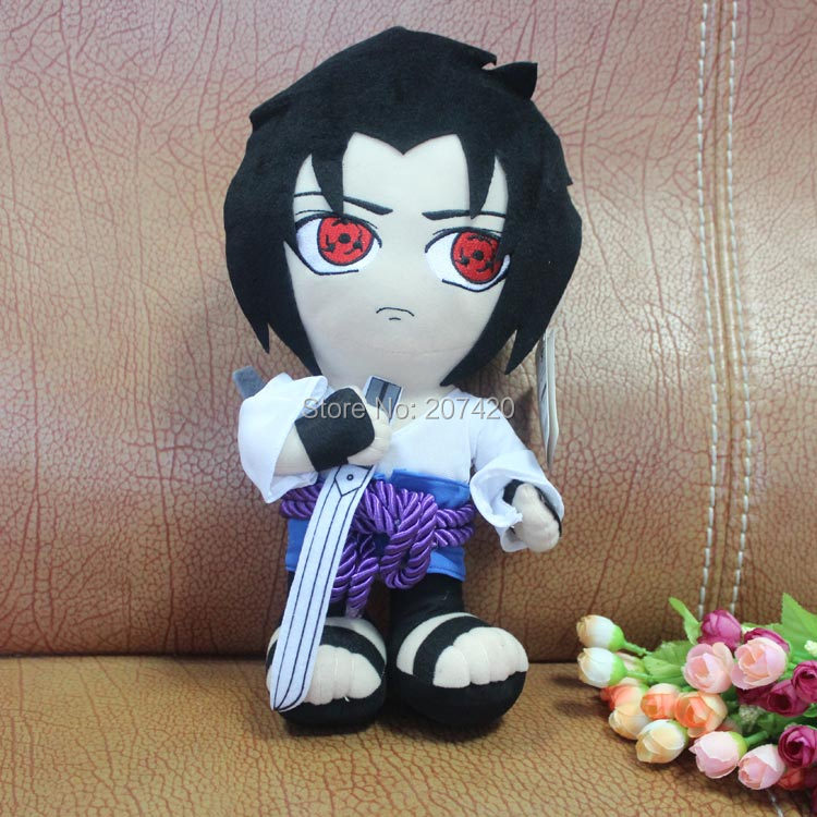 12inch 32cm Japanese Anime Naruto Naruto Syaringan Sasuke Uchiha Soft Stuffed Plush Toys Doll Gift(China (Mainland))