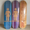 2014 GRIL Brand canadian maple skateboarding deck for new sk8ers logo design with size 7 5
