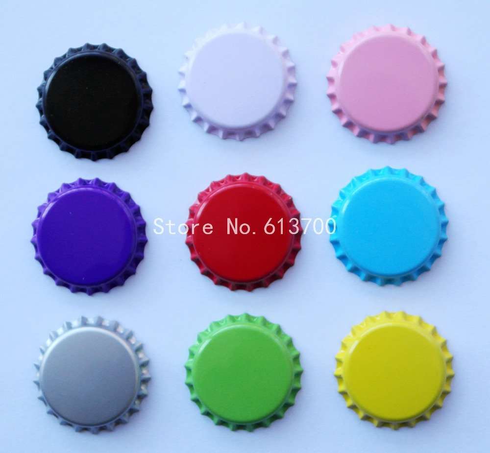 3000pcs/Lot Free Shipping bottle caps for jewelry Metal bottle caps two Side Colored Tinplate BottleCaps , Without Hole(China (Mainland))