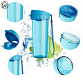500ml Strainer Water Bottles Athletic Cups Professional Sports Direct Drinking Water Bottle Lanyard Portable Climb Bike