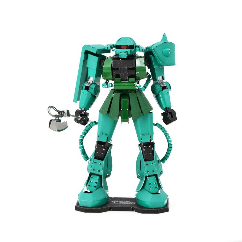 Green MS-06 Model Building Kits Mini 3D Scale Model Colors Gundam Metal Puzzle Children DIY Robot Miniaturas Jigsaw Brinquedo(China (Mainland))