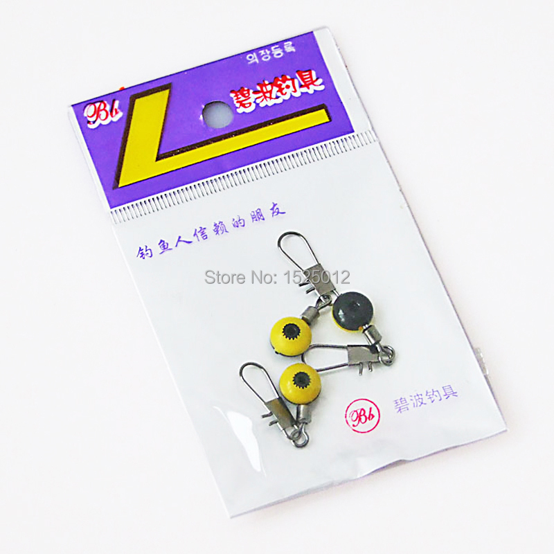 5bags 15pcs 8 word ring American swivels Quick swivels Sea beans fishing Lure red yellow best