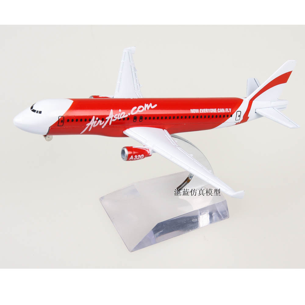 Brand New 1/200 Scale AirAsia Airbus A320 Airplane Diecast Metal Plane Model Toy For Gift/Collection/Decoration(China (Mainland))