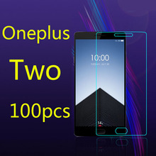 Protective Film Premium Tempered Glass Screen Protector  for Oneplus Two ,100pcs/lot  Free shipping