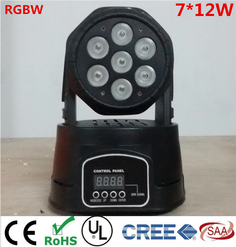 CREE 7X12W 4IN1 RGBW MINI LED Moving Head Wash Light,Wash Light,LED Moving Head For Event,Disco Party(China (Mainland))