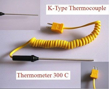 Free Shipping K-Type Thermocouple Probe Digital Thermometer 300 C