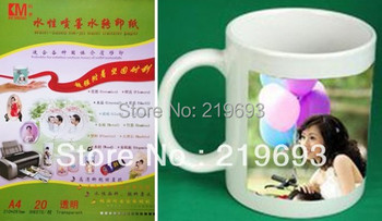Free shipping,transparent color backgound,inkjet water slide decal paper,printing paper a4