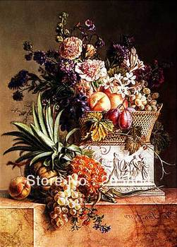 Free shipping 2013 hot sell  famous picture,a bunch of flowers ,wall tapestry of bouquet and fruits,Art pictures for Dining room