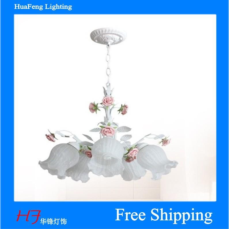 flower rose lighting chandelier glass lighting 5-lihgts<br><br>Aliexpress