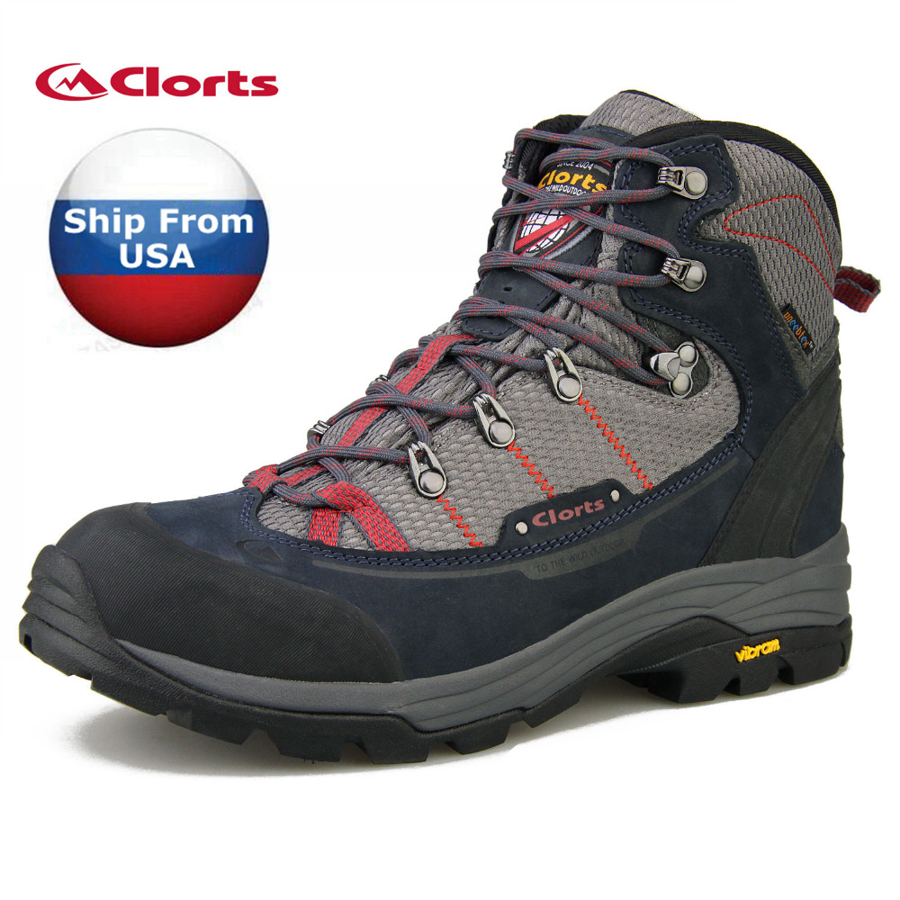 (Shipped From USA Warehouse)2017 Clorts Men Hiking Boots Waterproof Outdoor Shoes Breathable For Men 3A003C/D(China (Mainland))