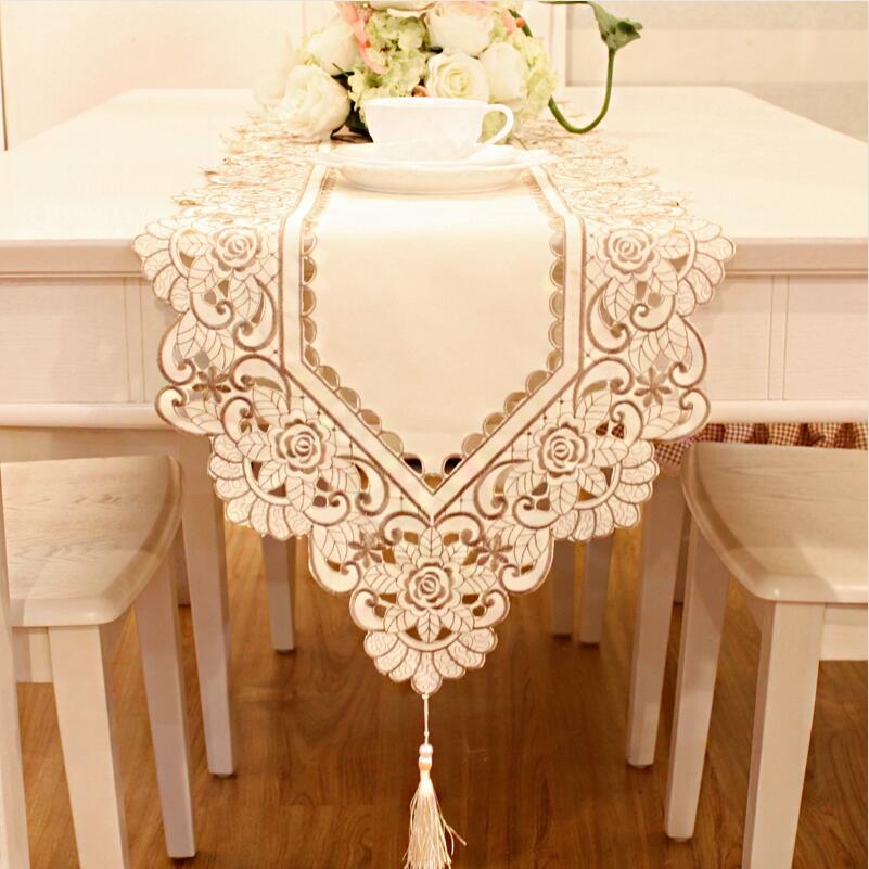 Embroidery Table Runner long tablecloth coffee table flag galda runner Pavillon aborderont kaitaliina manteles(China (Mainland))