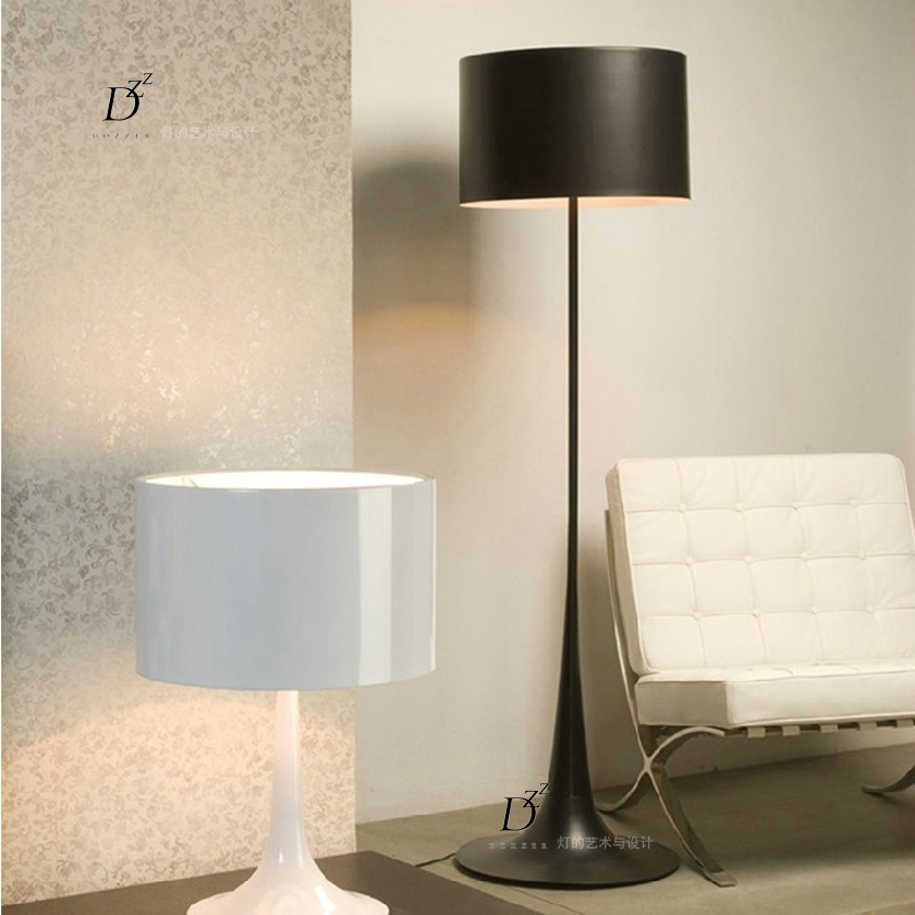 Italian gentleman standing lamp lights modern minimalist for Living room floor lamps