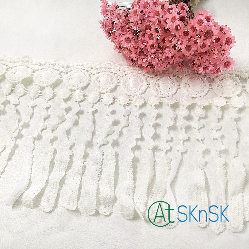 2016 New 3 Yard/ lot 15cm Polyester Off White Lamp Dangling Fringe Lace Trims For Sewing Craft A2(China (Mainland))
