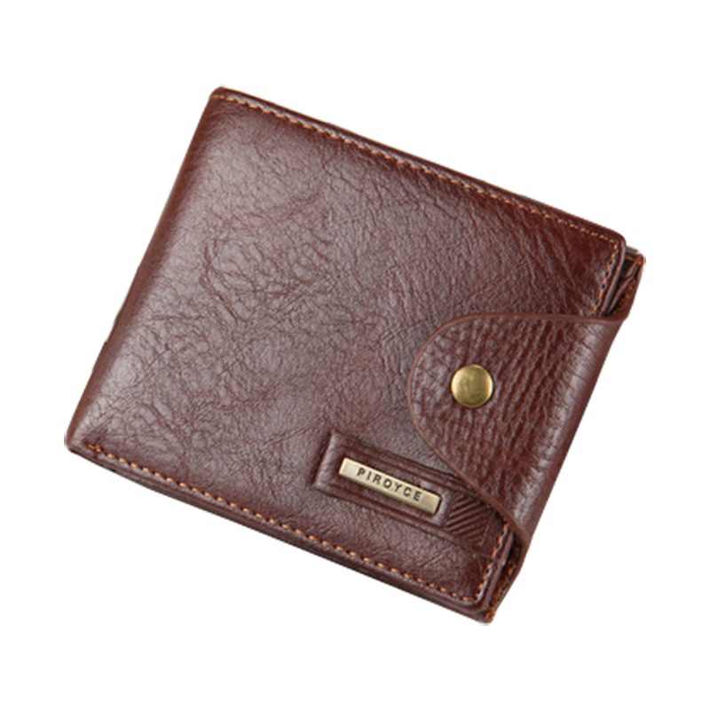 Hot Men Wallet Leather Quality Guarantee Short Purse with Coin Pocket Black Brown Wallets Zipper Bag Multifunction Wholesale(China (Mainland))