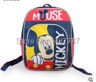 2015 New Cute Cartoon Mickey Minnie Boys Girls Kids Backpack Casual Schoolbag Free shipping(China (Mainland))