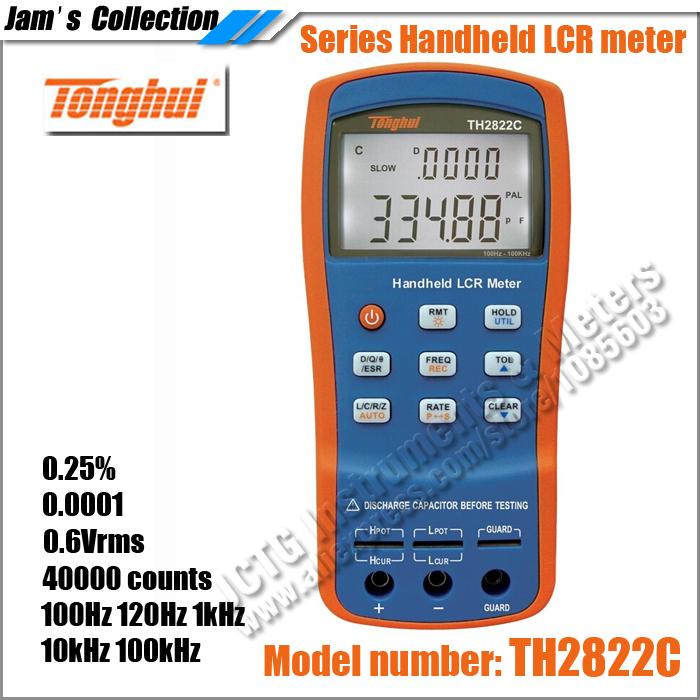 TONGHUI TH2822A 10KHZ HANDHELD USB DIGITAL LCR / LCZ / LCRZ METER<br><br>Aliexpress
