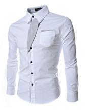 Top vendita mens alla moda camicia casual primavera uomo manica lunga slim fit shirt 2016 maschio abito da sposa top(China (Mainland))