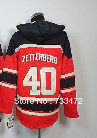 Здесь можно купить  Good Quality Hot Sale-#40 Henrik Zetterberg Red Hooded Sweatshirt,Ice Hockey Hoodie Jersey,Embroidery logos    Спорт и развлечения
