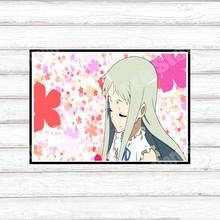 Японское аниме мы до сих пор не знаем название цветка, который мы видели в тот день, плакат высокого разрешения, стикер на стену 42*30 см(Китай)