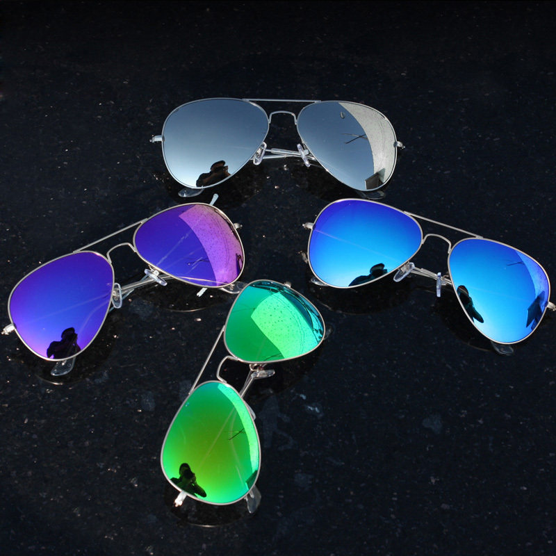 Revo Coating Colorful Aviator Sunglasses Men Women Driving Mirror Sun Glasses Female Male Brand Eyewear Pilot