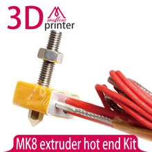 MK8 extruder hot end Kit DIY Hot End for MK8 3D Printer 1.75mm Filament 0.2/0.3/0.4/0.5mm Nozzle hotend