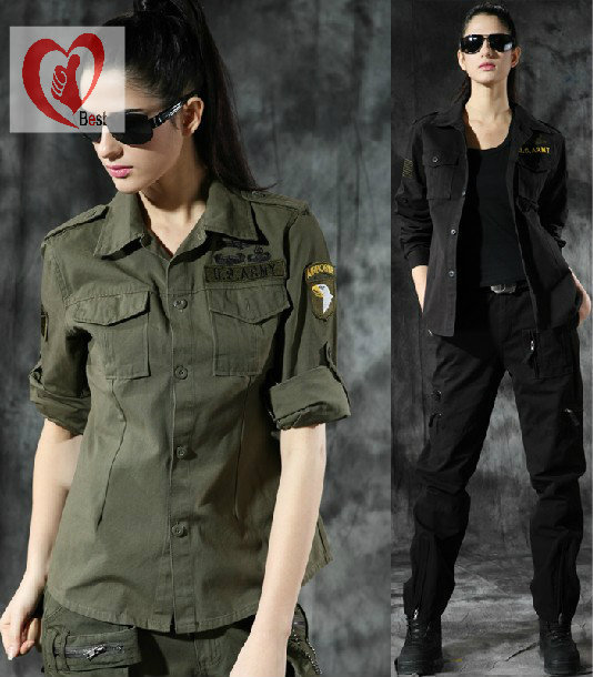 Hot selling!!! Army fans outdoor clothing 101st Airborne Division long-sleeved shirt, women's blouse, free shipping(China (Mainland))