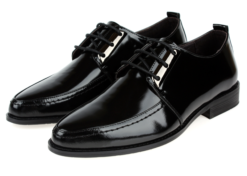 2014 new Fashion pantent soft genuine leather Black mens dress shoes wedding shoes mens office formal business shoes lace -up<br><br>Aliexpress