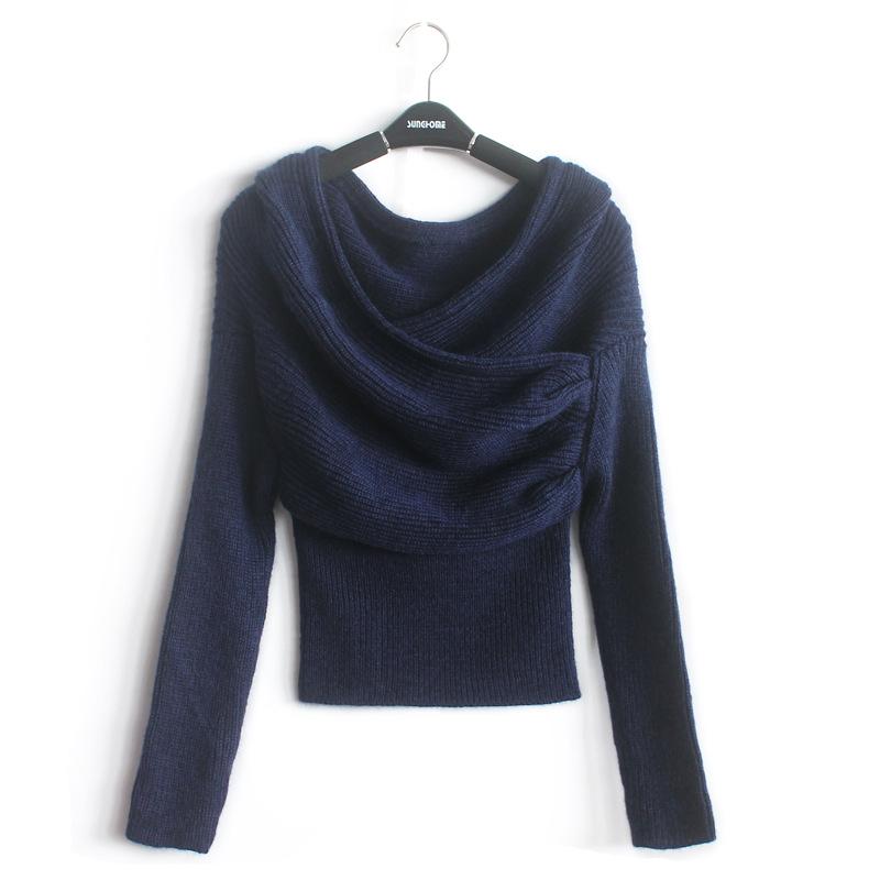 fashion 2015 ladies off shoulder sweater v neck wool wrap. Black Bedroom Furniture Sets. Home Design Ideas