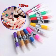Buy 12 Colors Professional Beautiful 3D Nail Art Polish Paint Drawing Pen Acrylic DIY Nail Pen 88 HS11 for $6.28 in AliExpress store