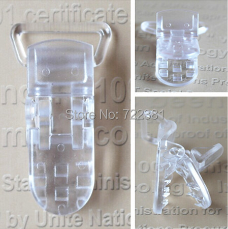 DHL free shipping 500pcs 25mm Hot sale Clear Color D shape DT Plastic Clip for ribbon, plastic Pacifier clip, Soother Clip<br><br>Aliexpress
