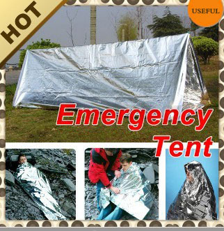 First Aid Survival Emergency Shelter Tents PET Aluminized Film Outdoor Summer Camping Hiking Rescue Safety Blanket Tube Tent - APPLETREE FASHION DESIGN CO.,LTD. store