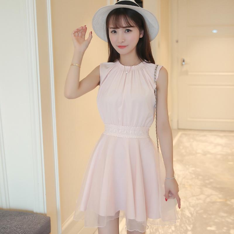 2017 Women Pink Chiffon Mini Evening Party Tutu Dress Korean Tunic Summer Vintage Bodycon Dresses For Girl Off Shoulder Vestidos(China (Mainland))