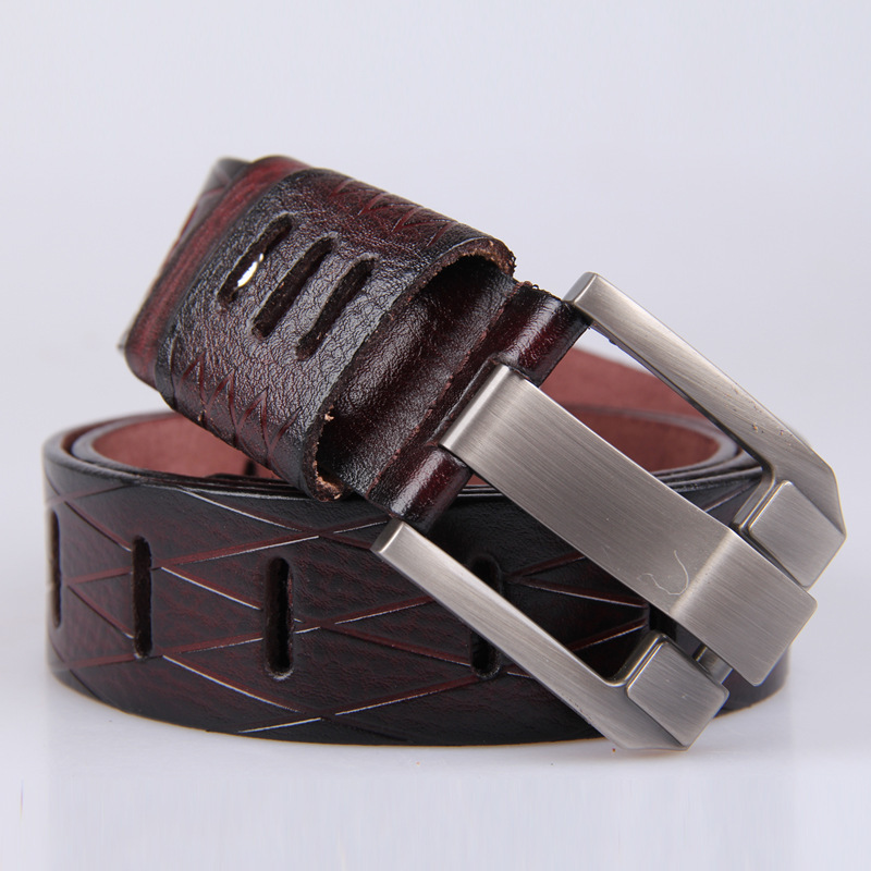 Men's boutique! Classic Belts For Men Suit Pants and jeans Excellent quality hollow genuine leather MEN BELT,Drop Shipping!(China (Mainland))