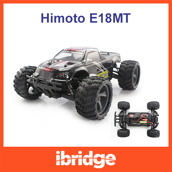 HIMOTO E18MT Electric RC Cars 4WD RTR Off Road Monster Truck 1:18 Scale Ready to Run 2.4G Radio Free shipping(China (Mainland))