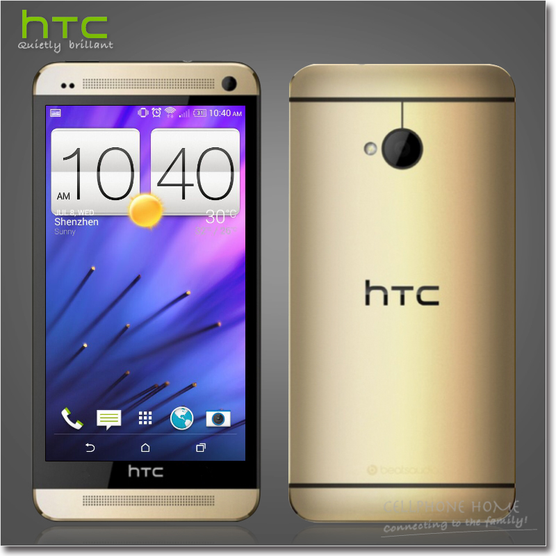 Original HTC ONE M7 Unlocked Quad-Core 2GB RAM 32GB ROM 4.7'' inch 1920x1080px 4MP Android OS 4.2 GPS 3G WIFI NFC Mobile Phones(China (Mainland))