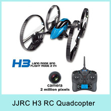 JJRC H3 Air-ground 6-Axis Gyro RC Quadcopter Drone UFO 3D with 2MP HD Camera RTF 2.4GHz Four-Wheeled Remote Control Toys 2015