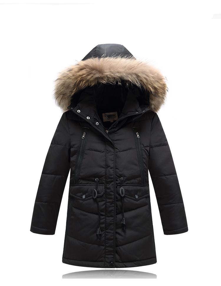 Здесь можно купить  High Quality Kids Down Jacket Child Thickening Warm Coat Boys Hooded Windproof Outerwear&Coats Children Long Winter Jackets  Детские товары