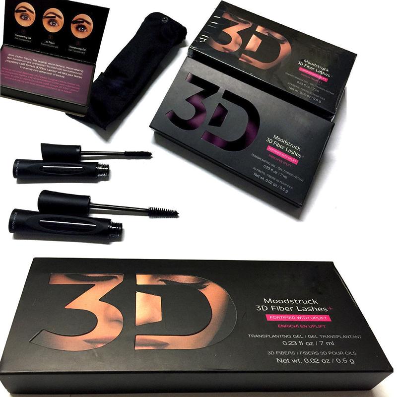 2Pcs/Set 3D Fiber Mascara Makeup Lash Eyelashes Waterproof Double Mascara Maquillage Curling Mascara maquiagem mascara set(China (Mainland))