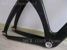 Popular Carbon Track Frame ,Fixed gear bicycle frameset NON -isp 53.5cm with frok and seatpost(China (Mainland))