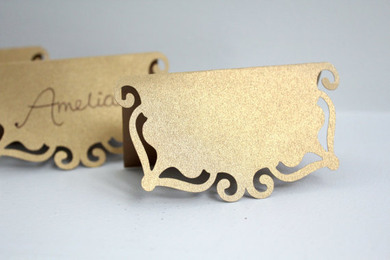 Tent shape wedding place card number Seating Reception, Escort table cards free shipping(China (Mainland))