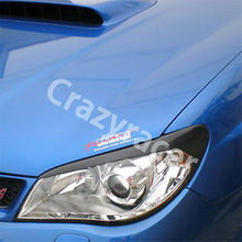 Buy Carbon Fiber Front Headlight Cover Eyelid Eyebrow Subaru Impreza 9th 05-06 for $38.81 in AliExpress store
