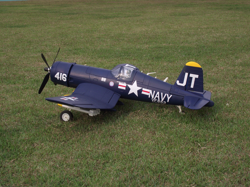 Unique F4U 1.2M Wingspan RC Model Propeller Airplane KIT W/O ESC Motor ESC Battery RC System(China (Mainland))