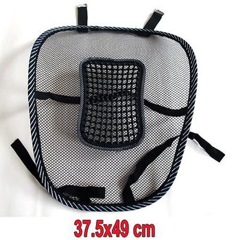 Car Seat Chair Massage Back Lumbar Support Mesh Ventilate Cushion Pad Black