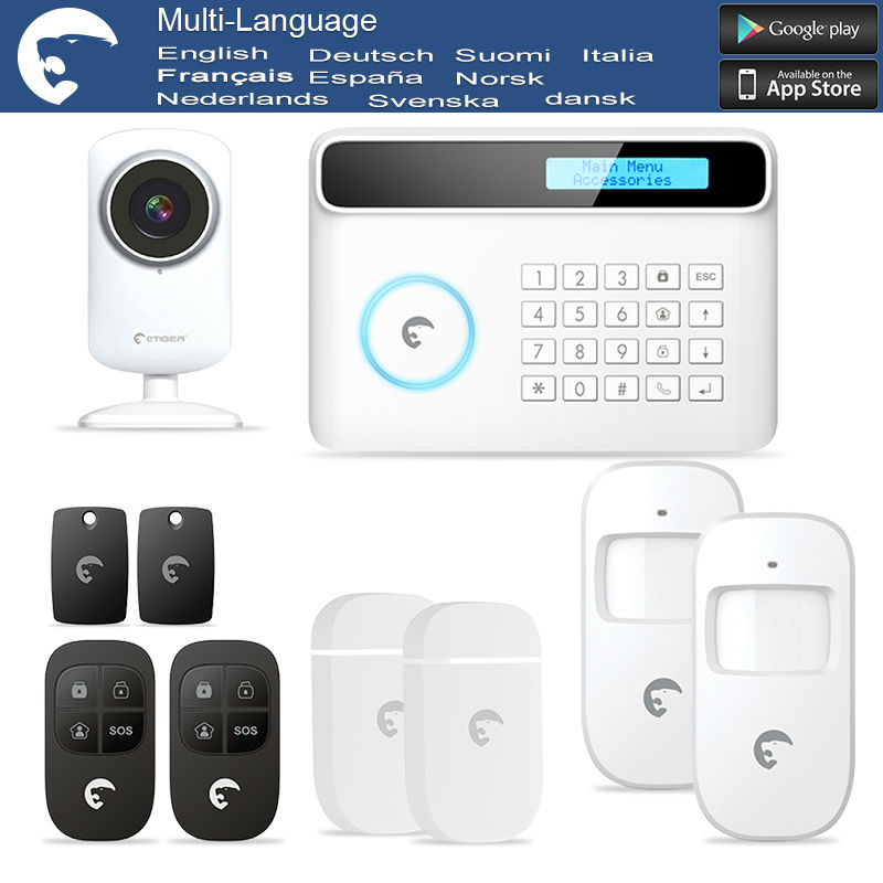 eTiger Newest Intruder Burglar gsm sms alarm S4 GSM/PSTN alarm system for Security(China (Mainland))
